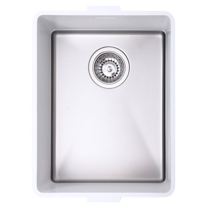 Sparkling 021 Integrated Sink - Glacier White